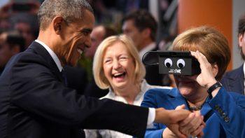VR体験前と後のメルケル首相のリアクションの差が可愛すぎるww