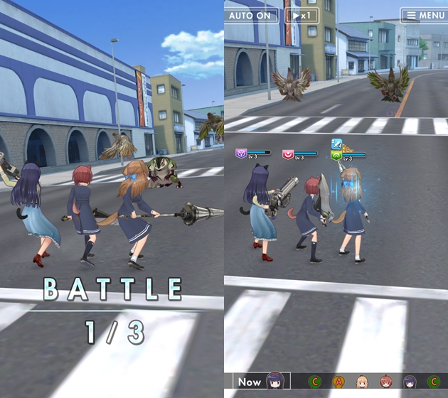 オルタナティブガールズ 戦闘画面